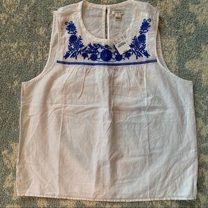 JCrew Women's Embroidered Tank